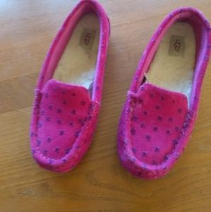 Ugg Pink Heart Slippers